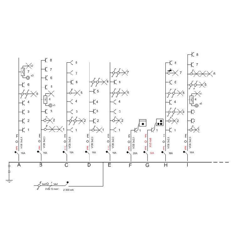 schema unifilaire electrique